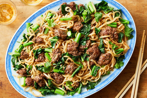 Five Spice Beef Stir Fry With Chinese Broccoli Rice Noodles Marley Spoon