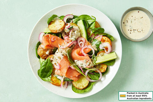 Low-Cal Smoked Salmon and Potato Salad with Creamy Caper Dressing